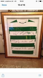 Celtic Top Signed By The Lisbon Lions