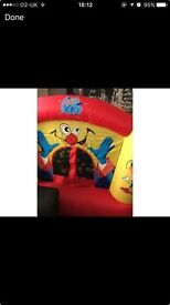 clown bouncy castle with blower