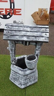 CONCRETE WISHING WELL LARGE GARDEN ORNAMENT