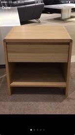 BRAND NEW Oak bedside table