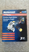 18Volt Mastercraft Battery Powered 4 1/2 inch Angle Grinder New