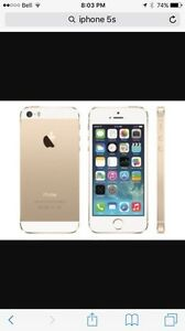 iPhone 5s white and gold bell