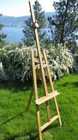 Easel, adjustable, solid wood