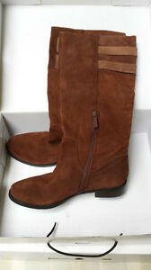 Ladies Riding Boots, Brown Suede, Nine West, 9 1/2 Medium