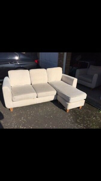Cream Sofa and Chair DFS
