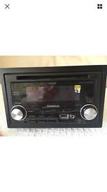 Kenwood double din stereo with front USB and aux port
