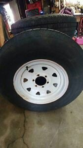 Excellent Condition Tire and Rim for Trailer