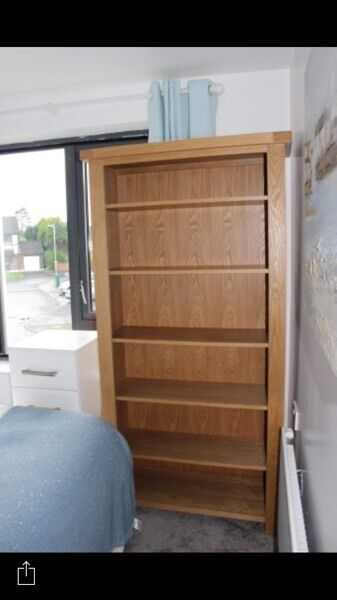 SOLID OAK bookcase from Harvey's
