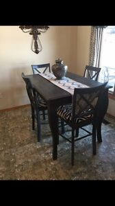 Grey pub style table and chairs