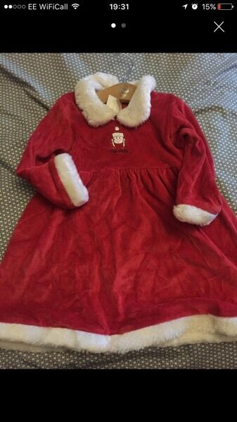 Christmas Mrs Claus dress 18-24 girls
