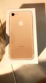 Gold 128gb iPhone still sealed in box