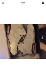 JORDAN 6 MAROOON BRAND NEW LIMITED EDITION WITH ORIGINAL BOX AND INSOLES NEVER BEEN WORN.