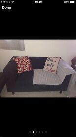 Black compact sofa