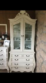 Shabby chic French amoire unit , suitable for shop , salon or house .