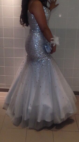 Prom dress size 10 with underskirtin Salford, ManchesterGumtree - Prom dress made of sequins snug size 10 does need a dry clean due to fake tan on the inside. No offers thanks paid£250