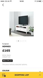 Ikea Hemnes TV media bench unit
