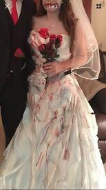 Real wedding dress Halloween costume