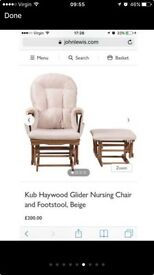 John Lewis Rocking Chair & Stool
