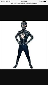 WANTED black spider man kids costume