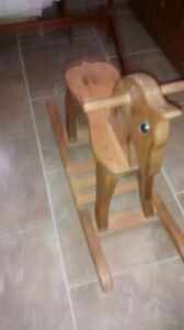 solid maple rocking horse London Ontario image 2