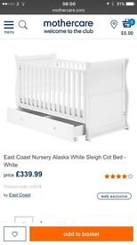 Mothercare East Coast Sleigh cotbed