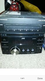 JVC KW XR812 double din stereo with front USB front aux and bluetooth