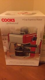 Never been opened espresso maker and grinder