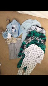0-3 month clothes bundle.