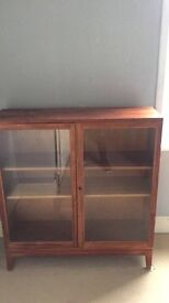 Glass bookshelf cabinet