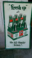 Antique 7-Up Tin Sign