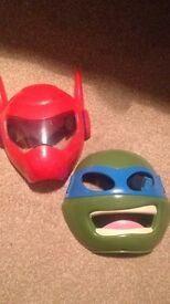 Baymax and Ninja Turtle mask