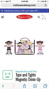 Wooden dolls with magnetic clothes - Tops and Tights  Kitchener / Waterloo Kitchener Area image 1
