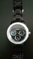 FOSSIL Stella Multifunction Resin Watch - Black with Stones