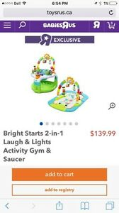 Bright Stars 2 in 1 Activity Gym and Saucer