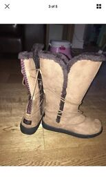 Animal Size 5 Women's Boots Chestnut Brown