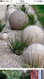 Large garden / wall or post balls New boxed