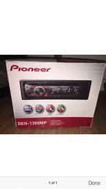 Pioneer DEH 1300mp stereo with front aux port