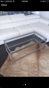 Modern Glass & Steel Coffee Table  Kingston Kingston Area image 2