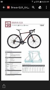 2017 BRAND NEW LIV Brava SLR CX Bike