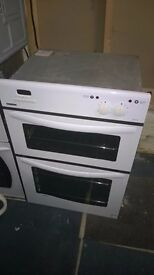 white new world built in double oven electric