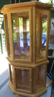 China cabinet, solid pine
