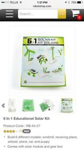 Brand new! Never Opened! 6 in 1 Solar Kit-Educational Robotics  London Ontario image 1
