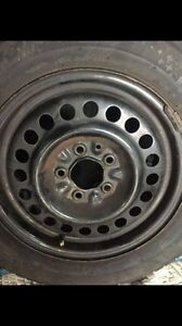 """Set of 4 - Winter Tires Rims - 15"""" - Hub Caps Included -"""
