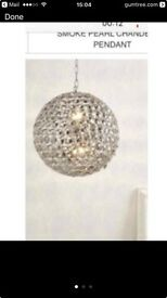 Large pearl dome chandalier pendant light (brand new in box)