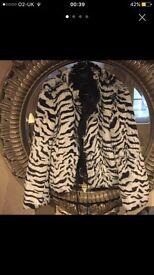 Faux fur new Armani coat - size S/M