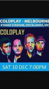 x2 Gold GA Coldplay Tix (10th December @ Etihad Stadium at 7pm) Brunswick East Moreland Area Preview