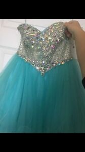 Grad/prom dress (blue-turquoise)  Kitchener / Waterloo Kitchener Area image 1