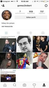 instagram account with 900 followers
