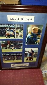 Rangers signed photo in frame