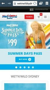 Two Wet N Wild One-Day Entry Pass $30.00 each! Rockdale Rockdale Area Preview